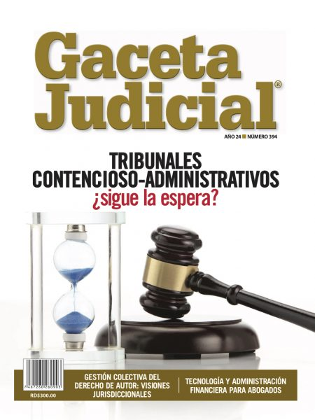 Portada Revista Gaceta Judicial núm. 394
