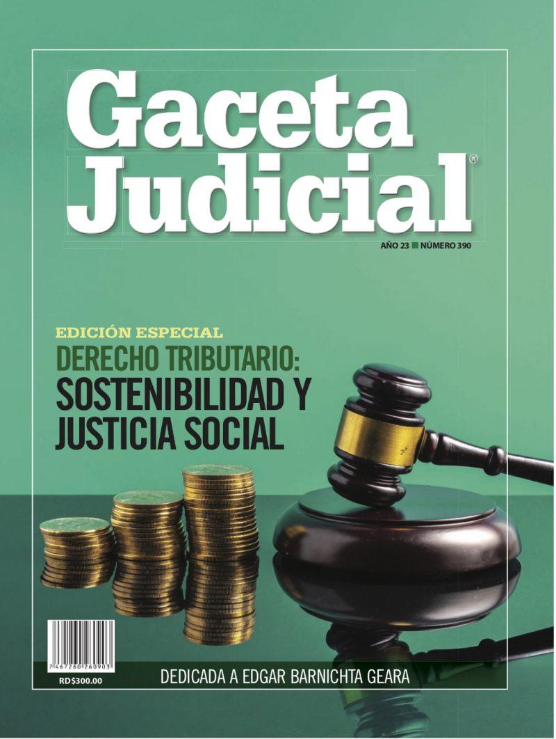 Portada Revista Gaceta Judicial núm. 390