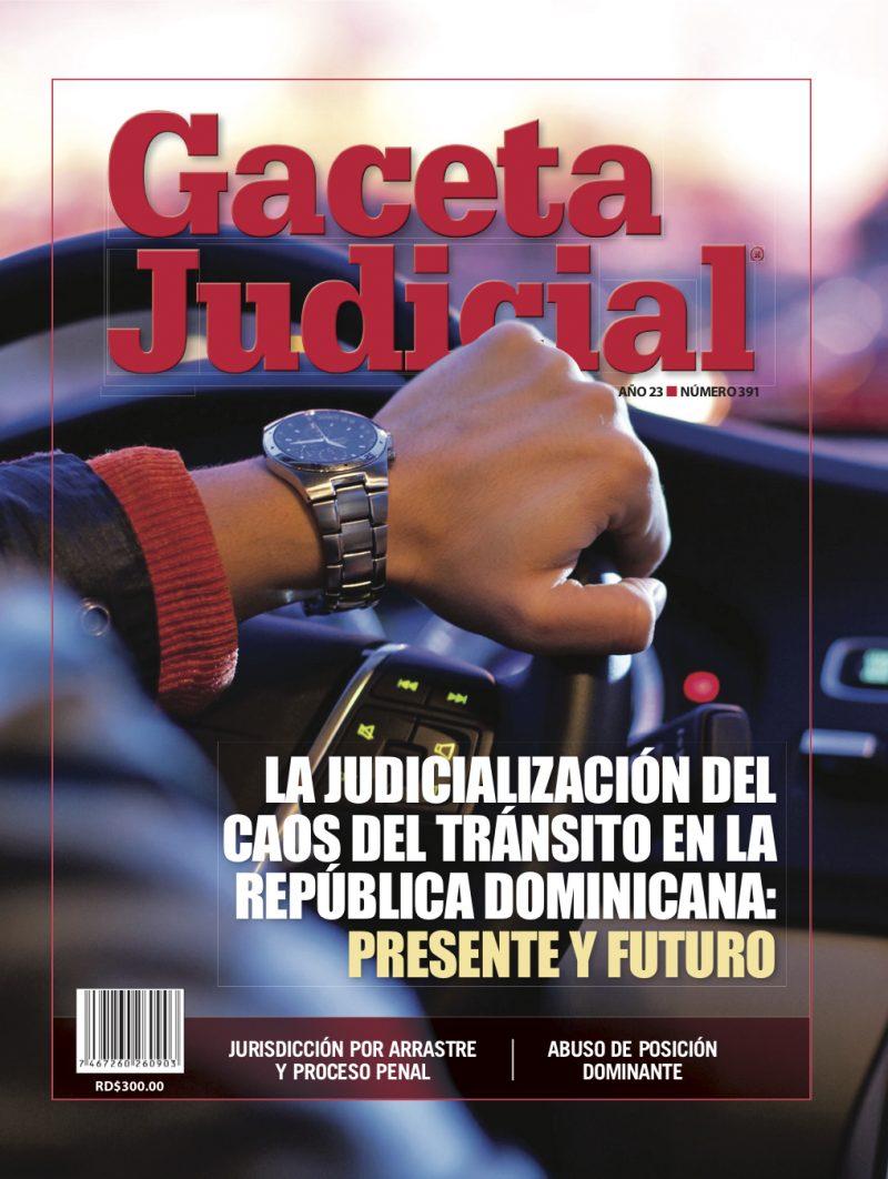 Portada Revista Gaceta Judicial núm. 391