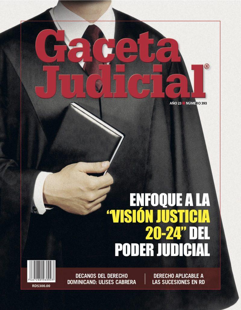 Portada Revista Gaceta Judicial núm. 393