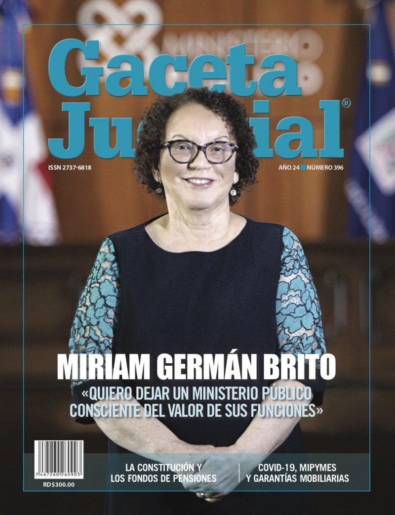 Portada Revista Gaceta Judicial núm. 396